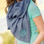 This chambray scarf if not an infinity scarf.