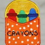 Applique Crayon Box