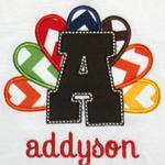 This applique can be done in any letter of the alphabet.