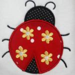 Flowers can be left off to make it a non gender ladybug.