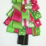 Due to the cost of the ribbons and the difficulty of this desgin, please add $8.00 for this ribbon Christmas tree design.