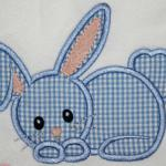 Boy version of this bunny.  You can change the fabric colors for either of these bunnies.