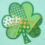 This quilted shamrock is made out of 6 different pieces of fabric.  I LOVE IT!  TI2S
