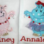 You choose the color fabric for your hippo to make it for a girl or for a boy.  Add a cute tutu and bow for only $4.00