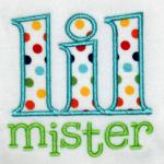 This applique design includes a name.