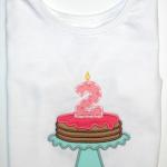"This sweet ""pancake"" birthday cake is so adorable.  You can change the colors and birthday number."