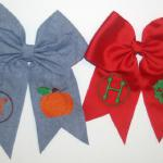 "Add a pumpkin, wreath or any design to our bows to make them ""oh so cute""."