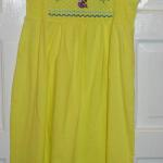 This adorable sundress was purchased @ Wal-Mart and makes a great item to add this faux smocking too.
