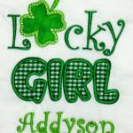 Also available is LUCKY BOY design