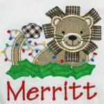 Due to the difficulty of this applique and the ribbons, please add $3.00 to this design.