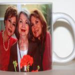 We can use your photograph to personalize your special mug. This is the front side of the WE LOVE YOU MAMA mug.