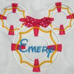 This design is available for a boy too.  Add a bow for only $1.00 to make it a cute MINNIE.