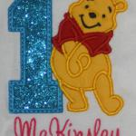You can do this applique with or without the number.  Any number also available. PICO
